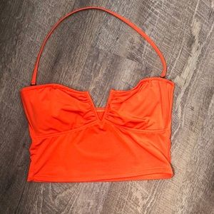 Ralph Lauren crop bikini top 🍊
